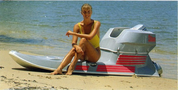 Tandem Powerboard on the beach